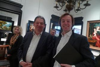 Михаил Ефремович и Axel Van der Stappen