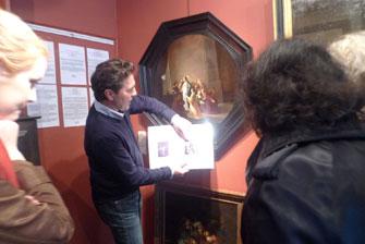 Жан рассказывает о провенансе картины Willem de Poorter.